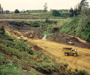 Camex Civil - History - 1992 Tamahere bypass interchange near Hamilton