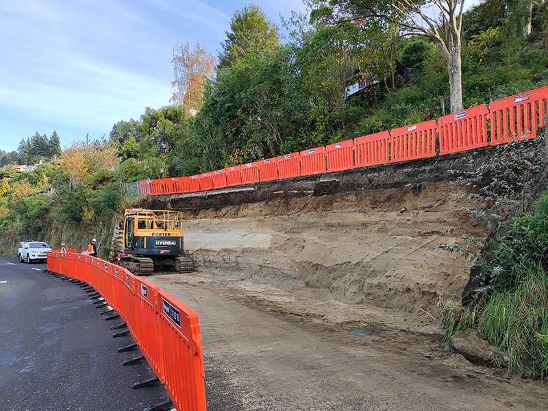 Camex Civil - News - Acacia Bay Retaining Walls
