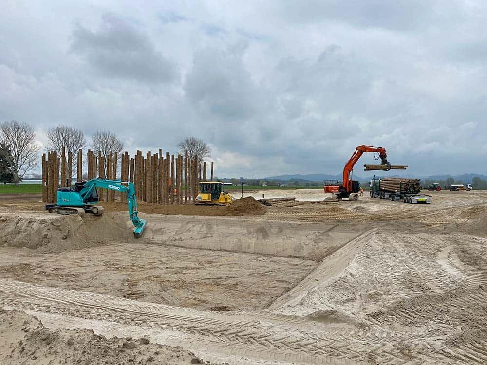 Camex Civil - News - 2020 Ecogas Reporoa - Pond & Pilling started